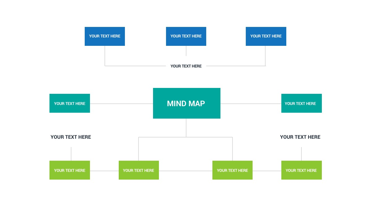 思维导图主题幻灯片PPT模板 Free Mind Map Powerpoint Template插图(1)